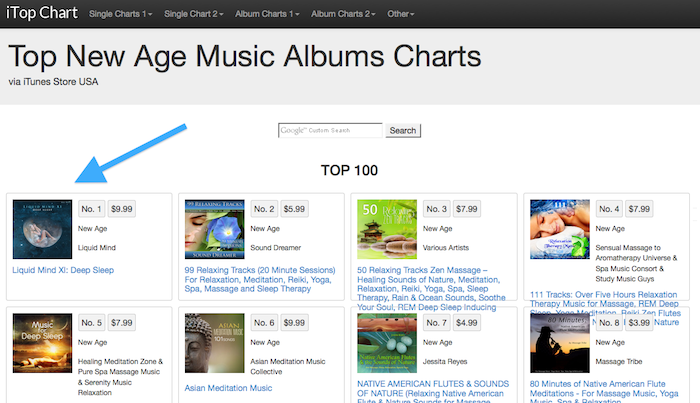 Itunes Top New Age Charts